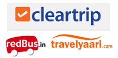 cleartrip+redbus+travelyari