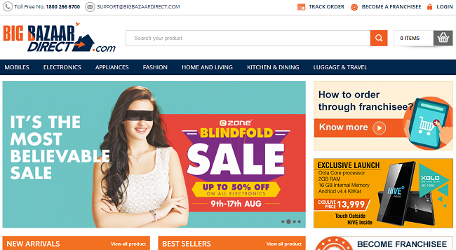 Future Group Launches Big Bazaar Direct E Commerce Store What S