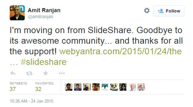 SlideShare co-founder Amit Ranjan quits LinkedIn, may lead e