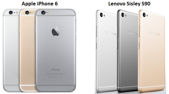 Lenovo launches iPhone 6 copycat 'Sisley S90' smartphone for Rs