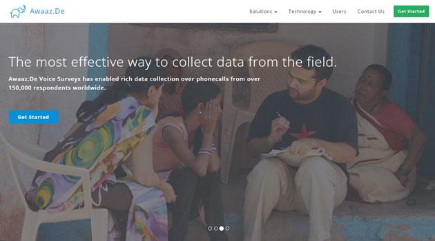 Social enterprise-focused mobile messaging platform Awaaz De