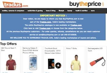 Tradus buys online marketplace BuyThePrice.com