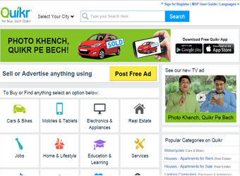Classifieds site Quikr raises $60M from Tiger Global, Kinnevik, others