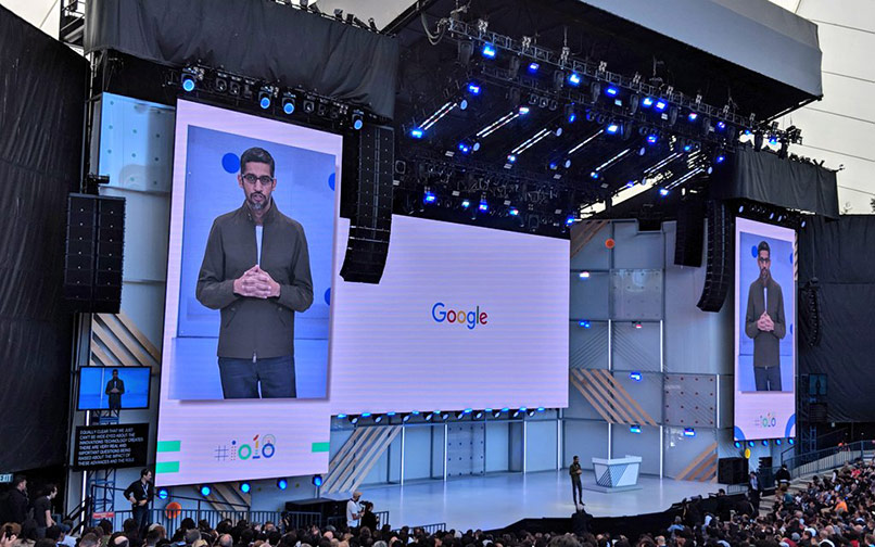 Pichai's enthusiasm translates to remarkable reality as AI suffuses Google's show, products