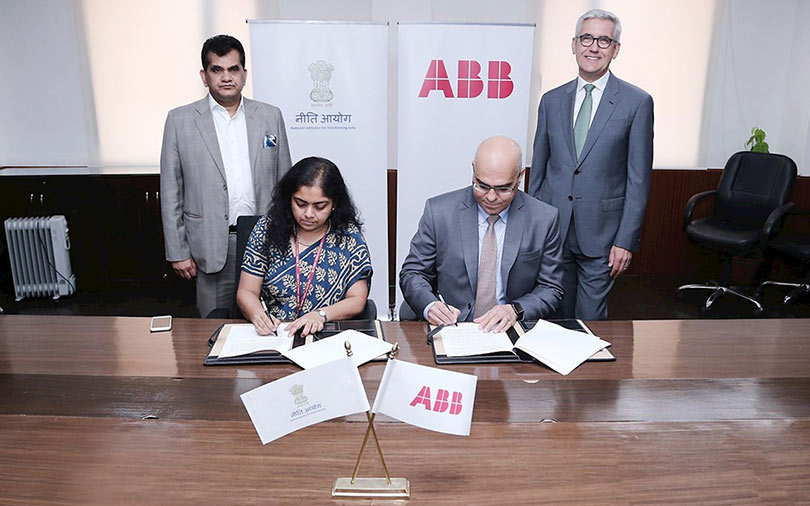 Niti Aayog partners Swiss group ABB for AI, robotics in manufacturing