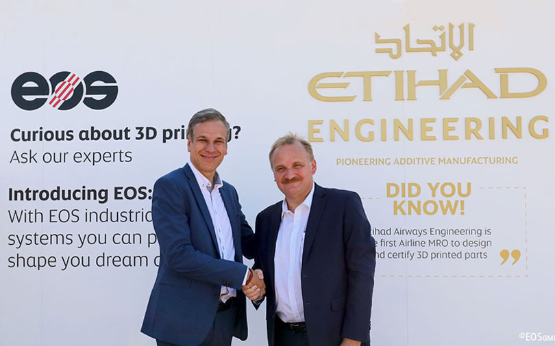 EOS and Etihad Airways Engineering team up to design 3D-printed aircraft interiors