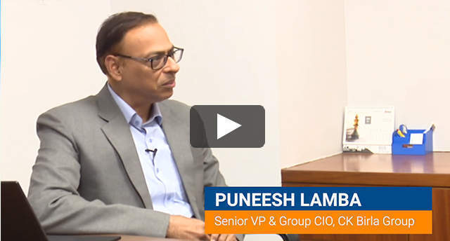 Watch: Puneesh Lamba on rebooting the CK Birla Group with IIoT, RPA and predictive analytics