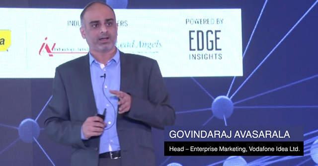 Govindaraj Avasarala, Vodafone Idea Ltd. addressing startups at TechCircle.Live, Mumbai