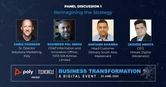 Watch: Poly, TATA SIA Airlines and MasterCard on Covid-19 shifting business strategies